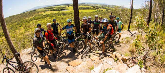 guided mountain bike ride at Atherton Forest Mountain Bike Park